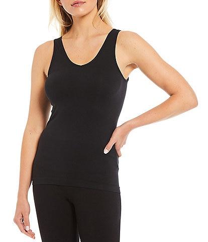 Modern Movement Solid Seamless Reversible Micro Knit Tank