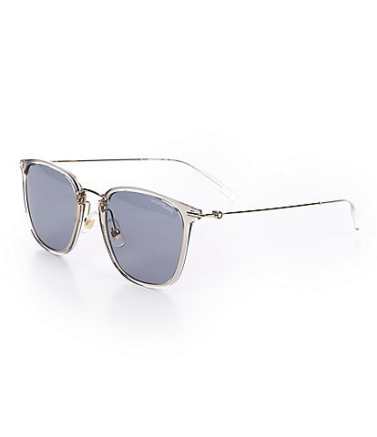 Montblanc Men's Mb0157sa 53mm Sunglasses