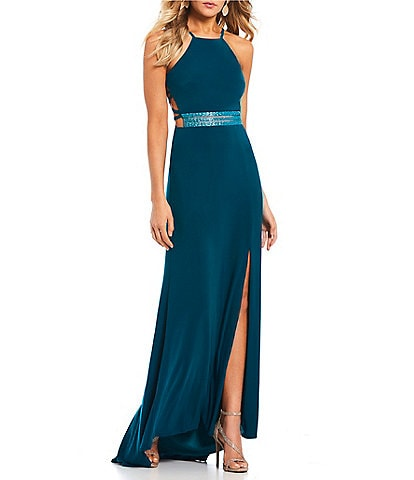 Morgan & Co. Slim-Fit ITY Long Dress