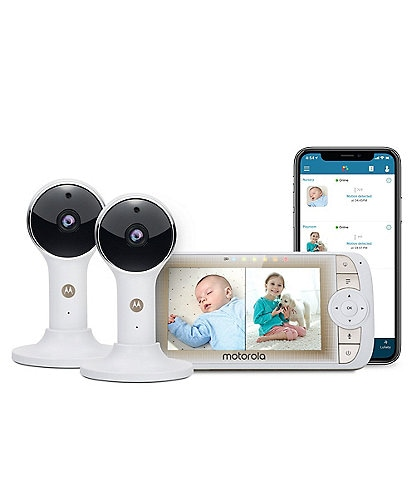 Motorola 5#double; Wi-Fi® Video Baby Monitor with Two Cameras