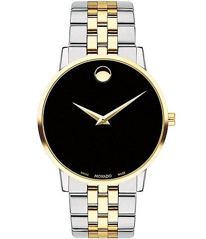 Movado Black Dial Link Bracelet Museum Classic Watch