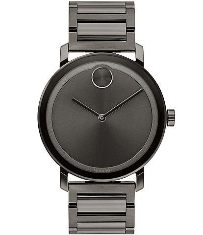 Movado Bold Evolution Gunmetal Stainless Steel Watch