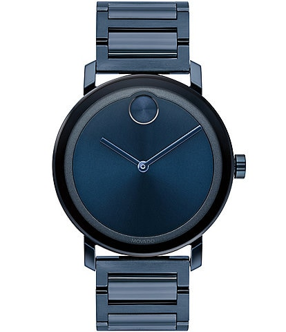 Movado Blue Stainless Steel Evolution Swiss Quartz Watch