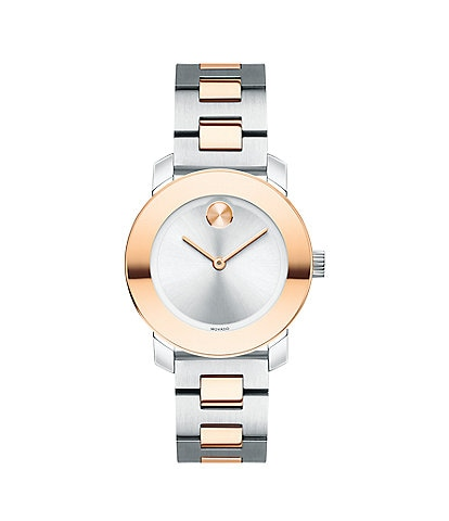Movado Iconic Metal Two-Tone Link Watch
