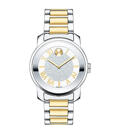 Movado Bold Luxe Two-Tone Link Bracelet Watch