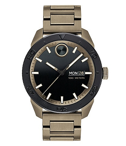 Movado Sport Khaki-Toned Watch