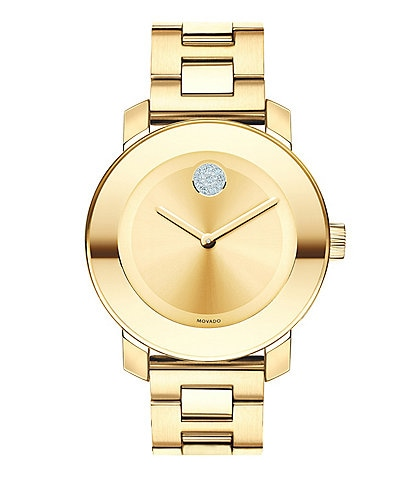 Movado Bold Swarovski Crystal Swiss Quartz Bracelet Watch