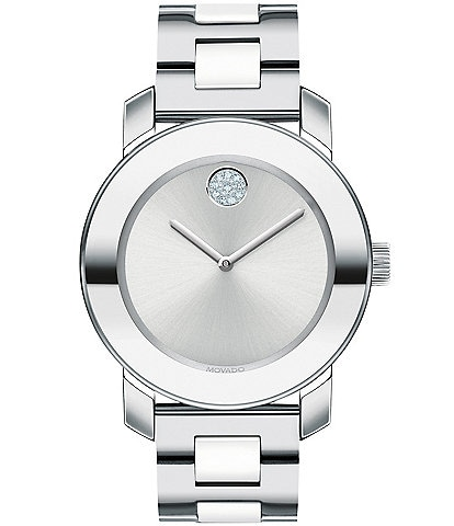 Movado Bold Ceramic Center Link Watch