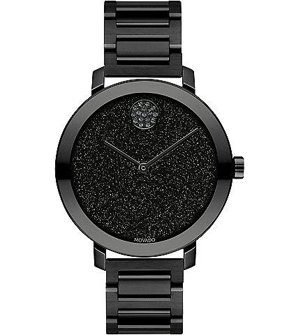 Movado Bold Evolution Black IP Stainless Steel Bracelet Watch
