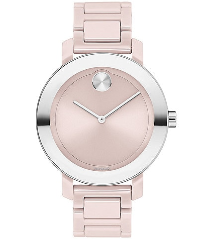 Movado Bold Evolution Blush Ceramic Bracelet Watch