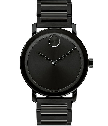 Movado Bold Evolution Large Thin Black IP Bracelet Watch
