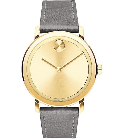 Movado Bold Evolution Leather Bracelet Watch