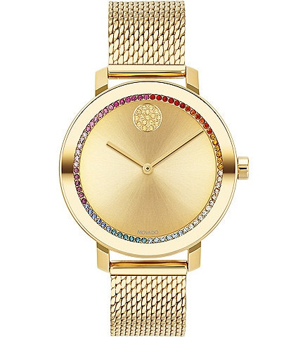 Movado Bold Evolution Mesh Bracelet Watch