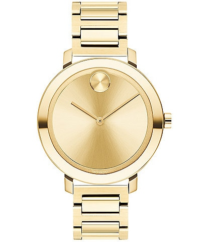 Movado Bold Evolution Pale Gold Bracelet Swiss Quartz Watch