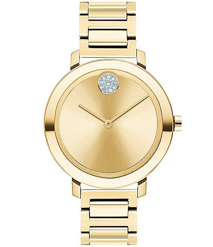 Movado Bold Evolution Swiss Quartz Analog Pale Gold Bracelet Watch