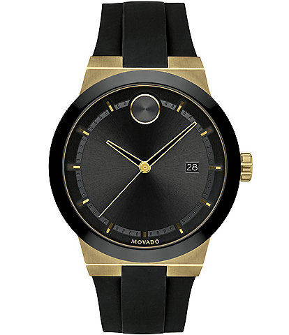 Movado Bold Men's Black Gold Swiss Quartz Fusion Watch