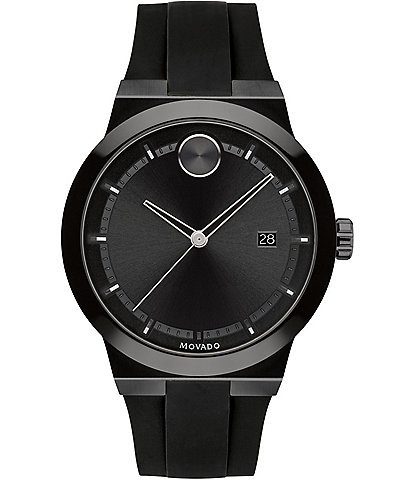 Movado Bold Men's Black Swiss Quartz Fusion Watch