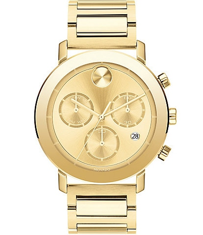 Movado Bold Men's Evolution Gold IP Chronograph Watch