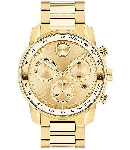 Movado BOLD Men's Verso Chronograph Goldtone Stainless Steel Watch