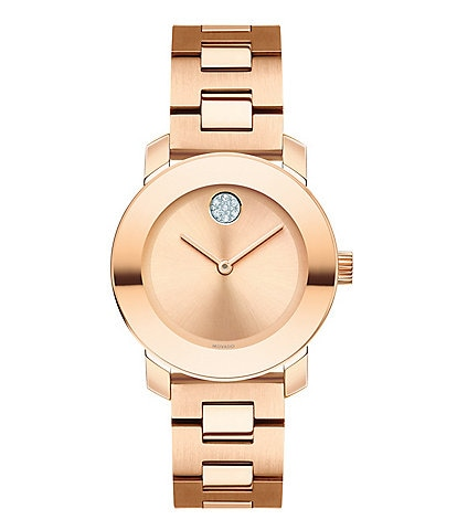 Movado Bold Rose Gold Bracelet Watch