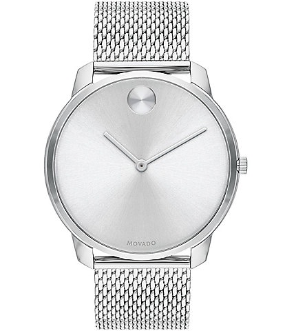 Movado Bold 42 mm Stainless Steel Mesh Bracelet Watch