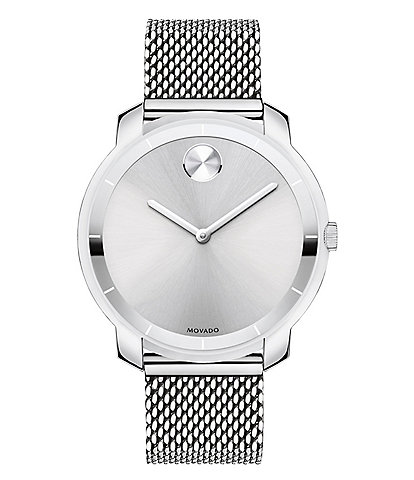 Movado Bold Stainless Steel Mesh Watch