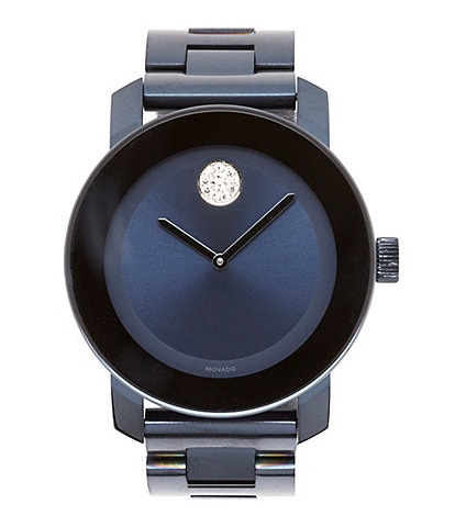 Movado Bold Swiss K1 Crystal IP Stainless Steel Analog Watch