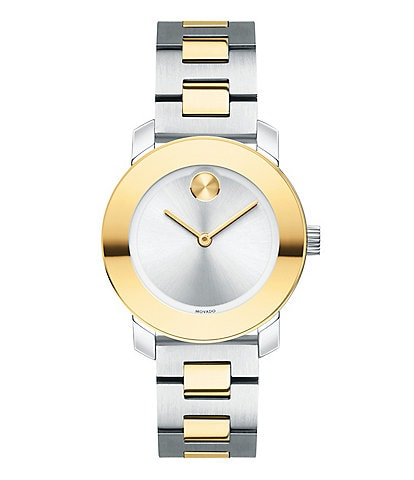 Movado Bold Two Tone Bracelet Watch