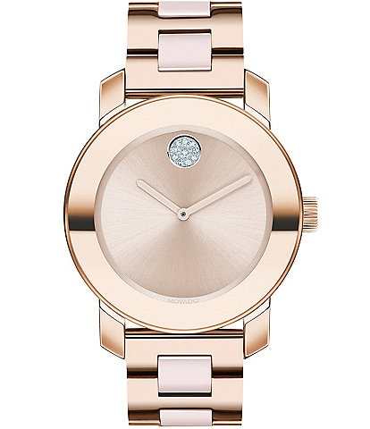 Movado Bold Women's Rose Gold Swiss Quartz Watch