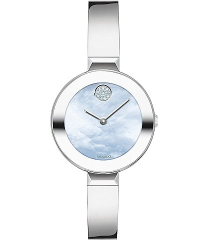 Movado Bold Women's Swiss Quartz Bangle Bracelet Watch