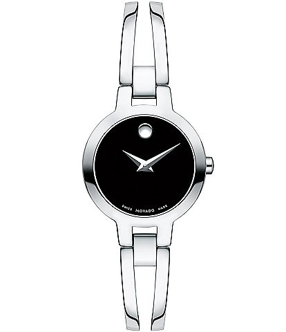 Movado Double Bar Bangle Style Amorosa Watch