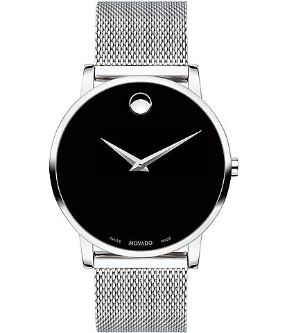 1121bc21a73 Movado Men s Stainless Steel Mesh Bracelet Watch