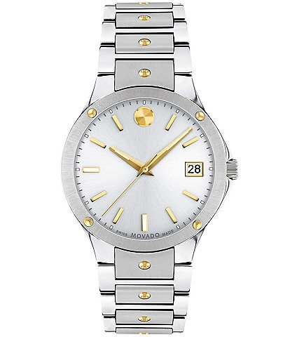 Movado SE White Sunray Dial Bracelet Watch