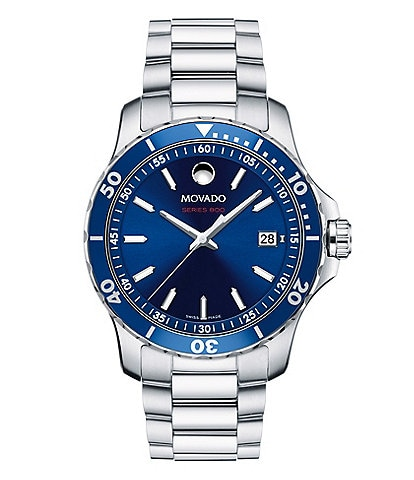 Movado SERIES 800 Men's Blue Dial Stainless Steel Watch