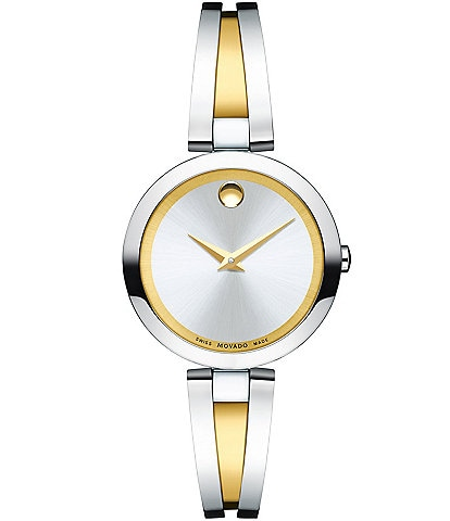 Movado Two-Tone Bangle Style Aleena Watch