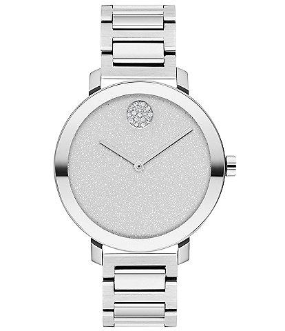 Movado Women's Bold Metal Silver Bracelet Watch