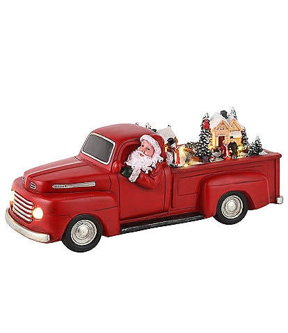 Mr. Christmas 14#double; Animated Santa's Red Truck