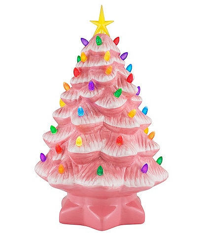 Mr. Christmas 14#double; Lit Nostalgic Pink Christmas Tree