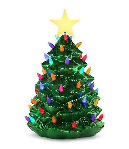 Mr. Christmas 36#double; Outdoor Blow Mold Nostalgic Tree - Green Metallic