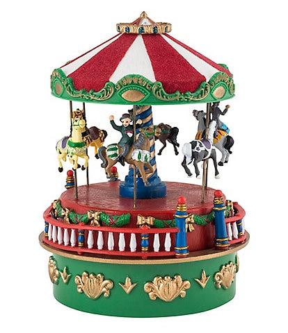 Mr. Christmas 4.5#double; Carousel Mini Animated Carnival Music Box