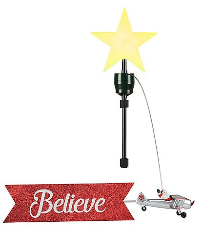 Mr. Christmas LED Lighted & Animated Biplane Tree Topper