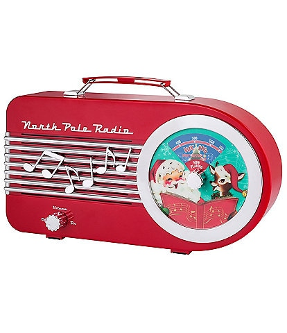 Mr. Christmas Musical North Pole Vintage Inspired Radio