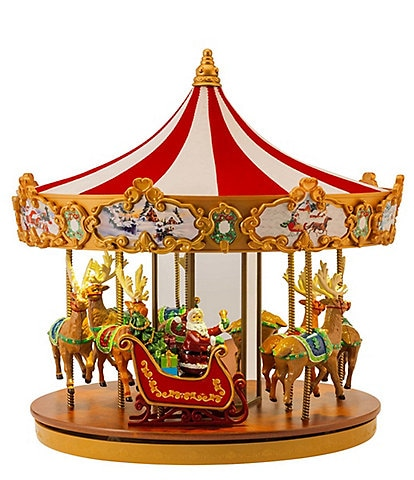 Mr. Christmas Very Merry Light-Up Musical Carousel
