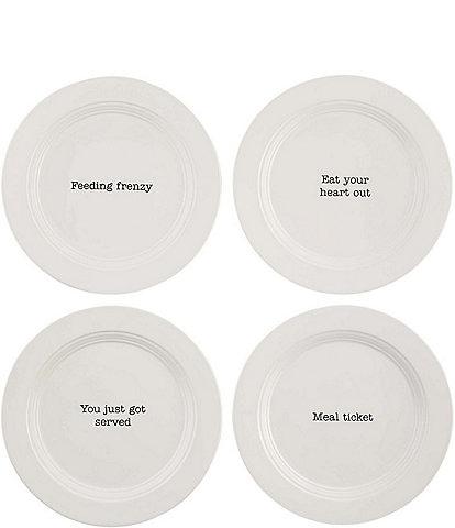 Mud Pie Appetizer / Salad Plates, Set of 4