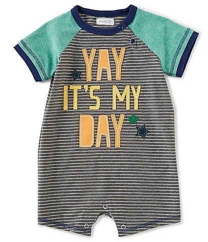 Mud Pie Baby Boys 12-18 Months Birthday Shortall