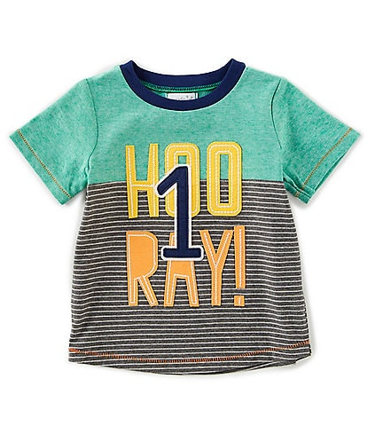 Mud Pie Baby Boys 12 18 Months Short Sleeve 1st Birthday Hooray Tee