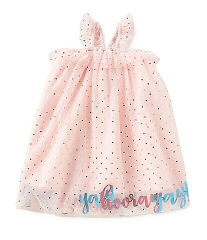 Mud Pie Baby Girls Yay Hooray Mesh Party Dress