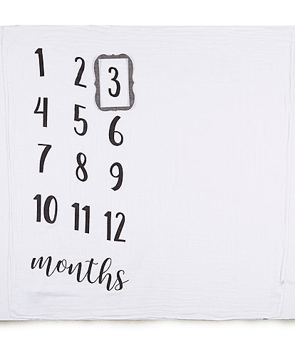 Mud Pie Baby Milestone Photo Blanket