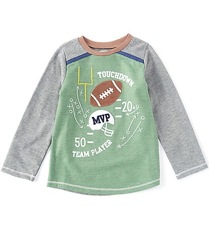 Mud Pie Baby/Toddler Boys 12 Months-5 Long-Sleeve Touchdown Football Tee