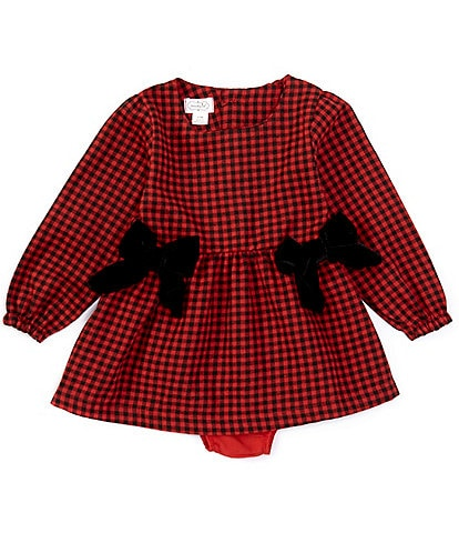 Mud Pie Baby/Toddler Girls 6 Months-2T Buffalo-Check A-Line Dress